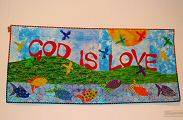 A quilt by Judith Reilly in our Sunday School Room